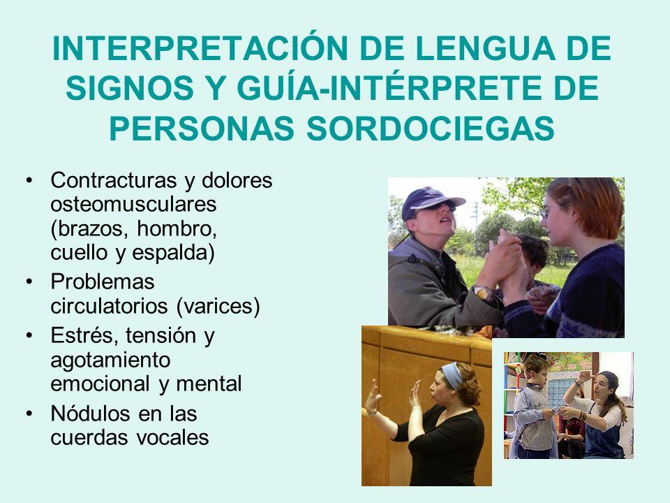 INTERPRETACIÓN DE LENGUA DE SIGNOS Y GUÍA-INTÉRPRETE DE PERSONAS SORDOCIEGAS