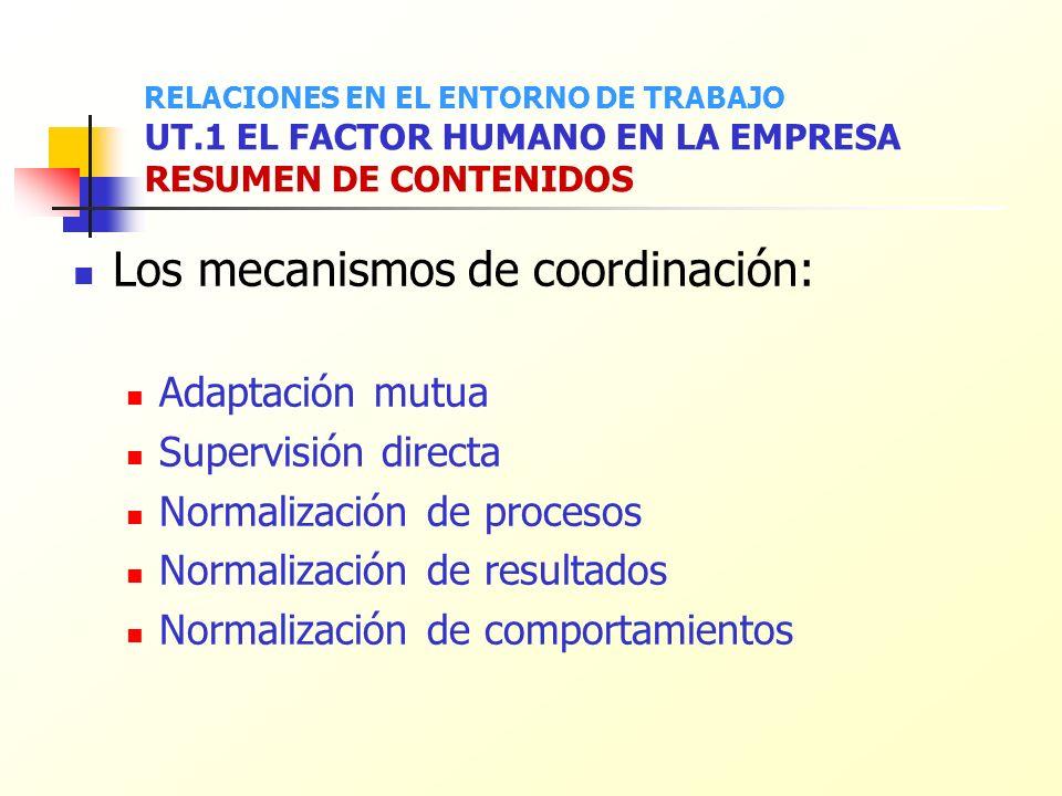 Los mecanismos de coordinación: