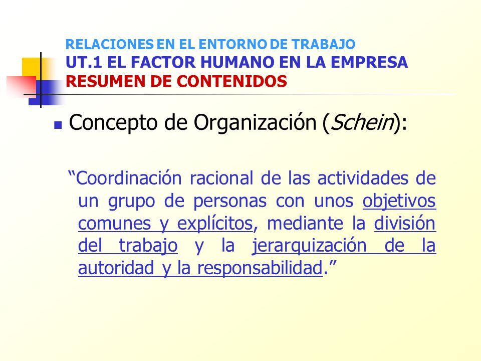 Concepto de Organización (Schein):