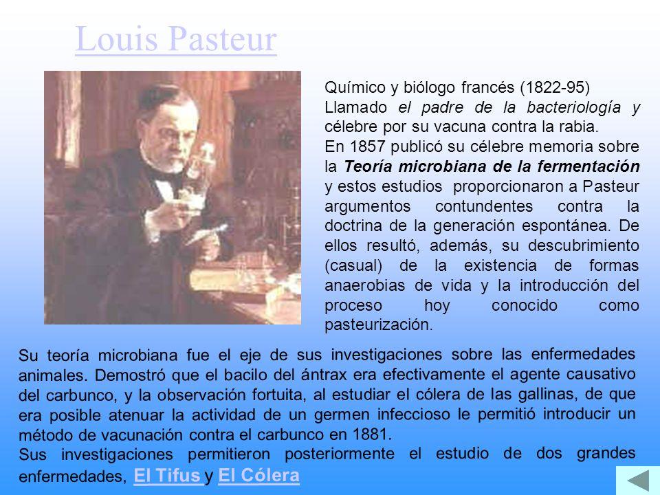 Louis Pasteur Químico y biólogo francés (1822-95)