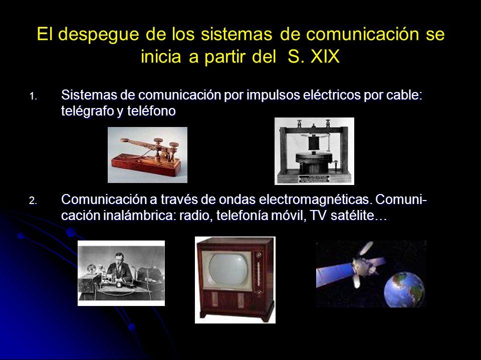 El despegue de los sistemas de comunicación se inicia a partir del S
