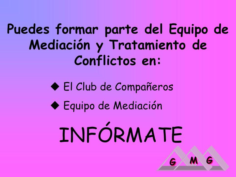 Puedes formar parte del Equipo de Mediación y Tratamiento de Conflictos en: