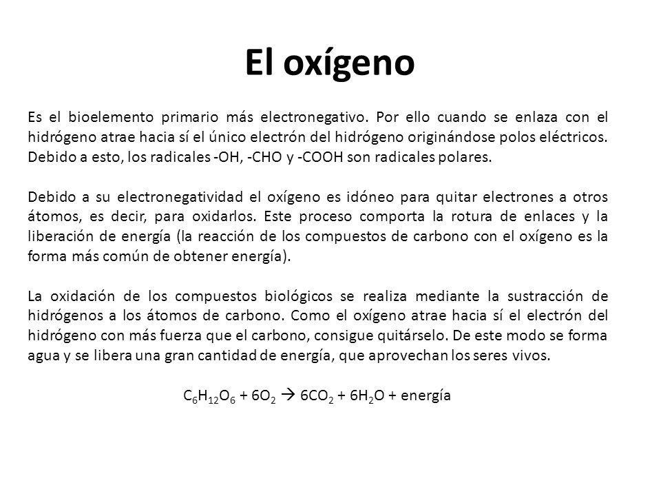 El oxígeno