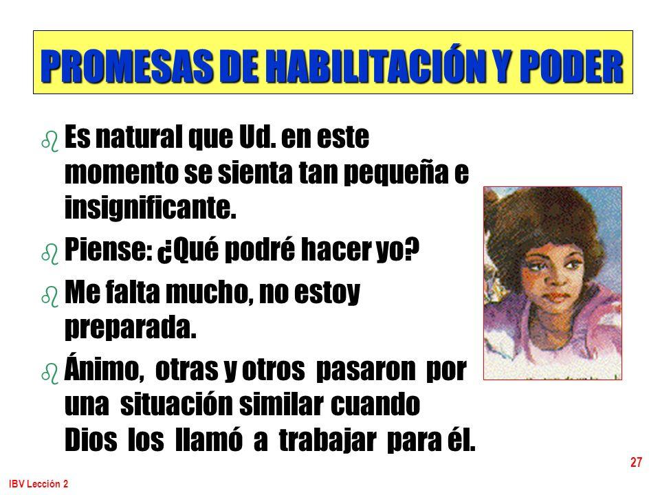 PROMESAS DE HABILITACIÓN Y PODER