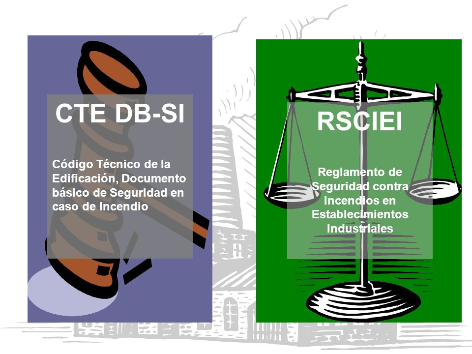 CTE DB-SI Código Técnico de la Edificación, Documento básico de Seguridad en caso de Incendio. RSCIEI.