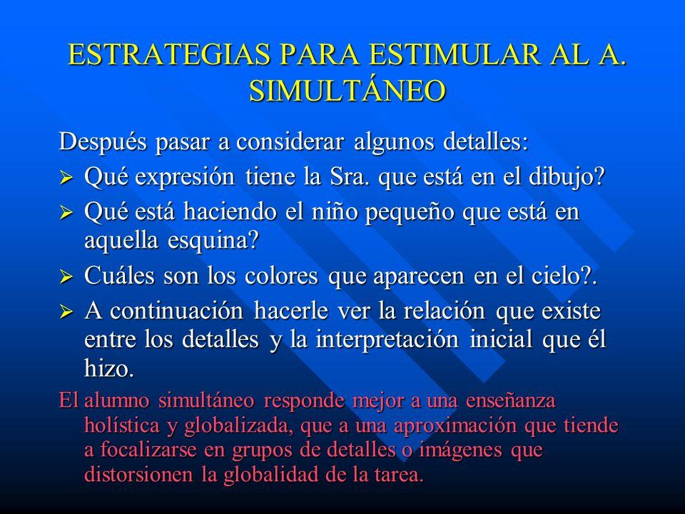 ESTRATEGIAS PARA ESTIMULAR AL A. SIMULTÁNEO