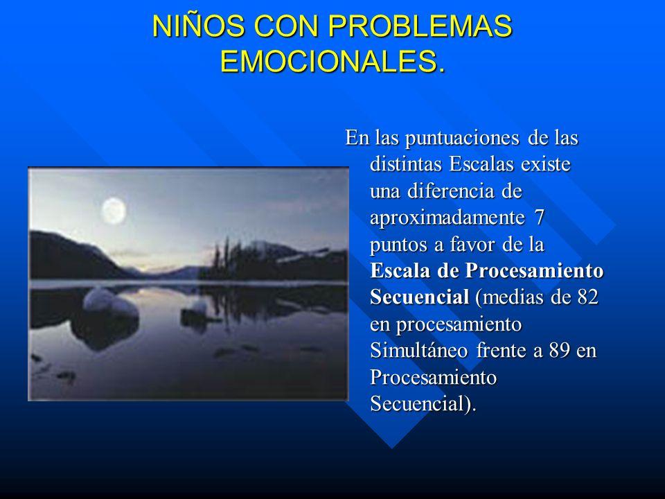 NIÑOS CON PROBLEMAS EMOCIONALES.