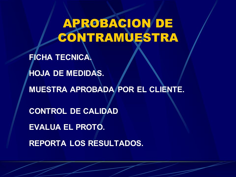 APROBACION DE CONTRAMUESTRA
