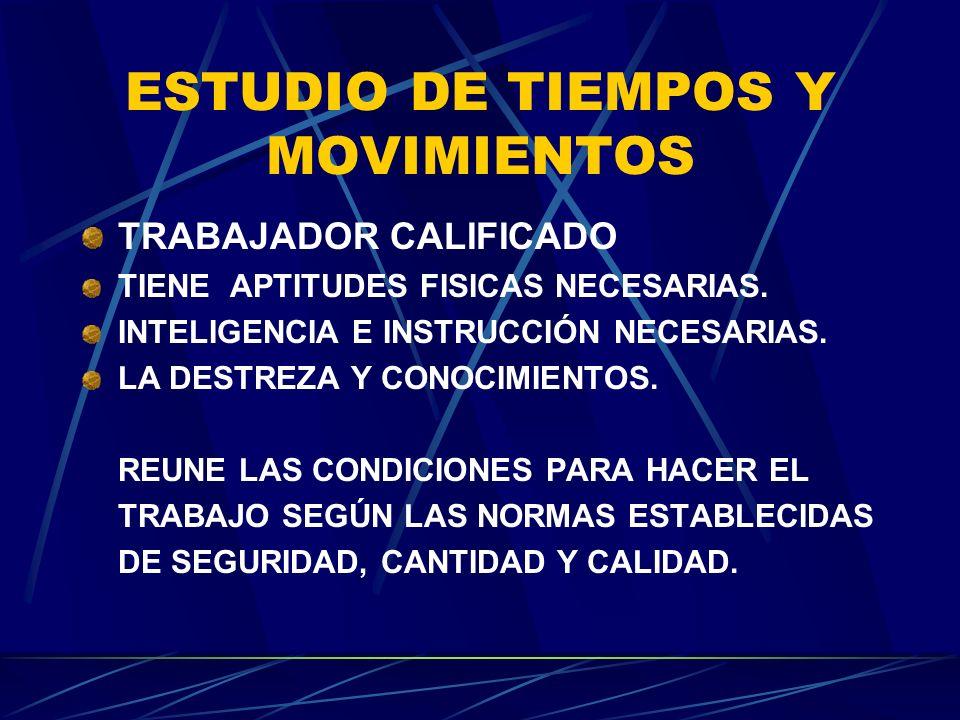 ESTUDIO DE TIEMPOS Y MOVIMIENTOS