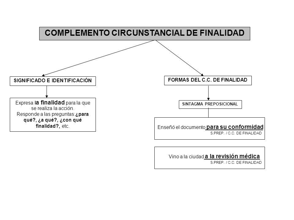 COMPLEMENTO CIRCUNSTANCIAL DE FINALIDAD