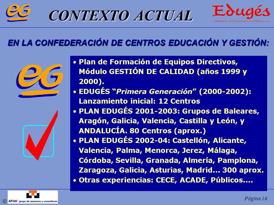 EN LA CONFEDERACIÓN DE CENTROS EDUCACIÓN Y GESTIÓN: