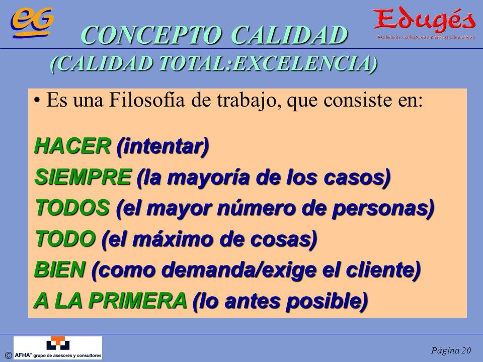 CONCEPTO CALIDAD (CALIDAD TOTAL:EXCELENCIA)