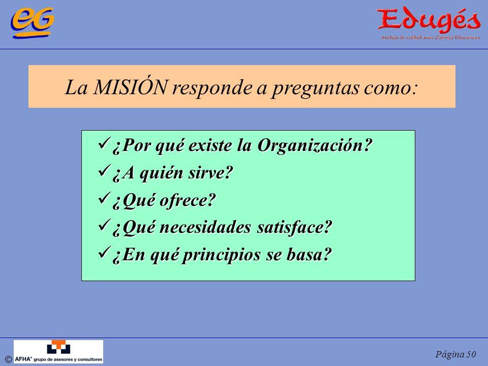 La MISIÓN responde a preguntas como: