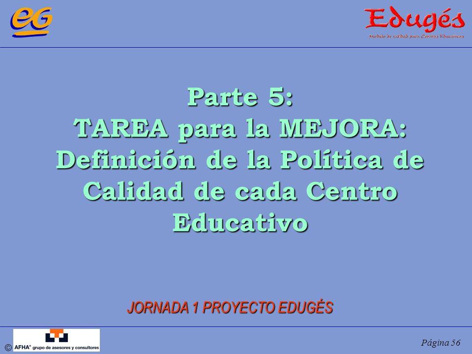 Definición de la Política de Calidad de cada Centro Educativo