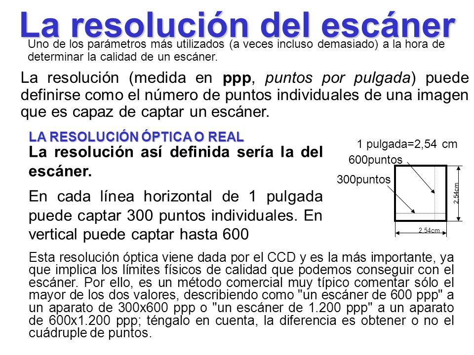 La resolución del escáner