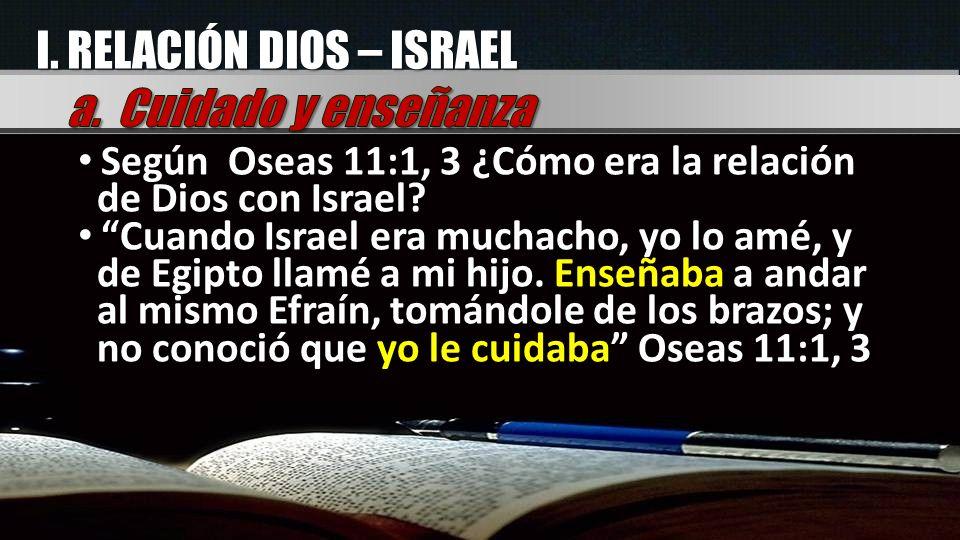 I. RELACIÓN DIOS – ISRAEL a. Cuidado y enseñanza