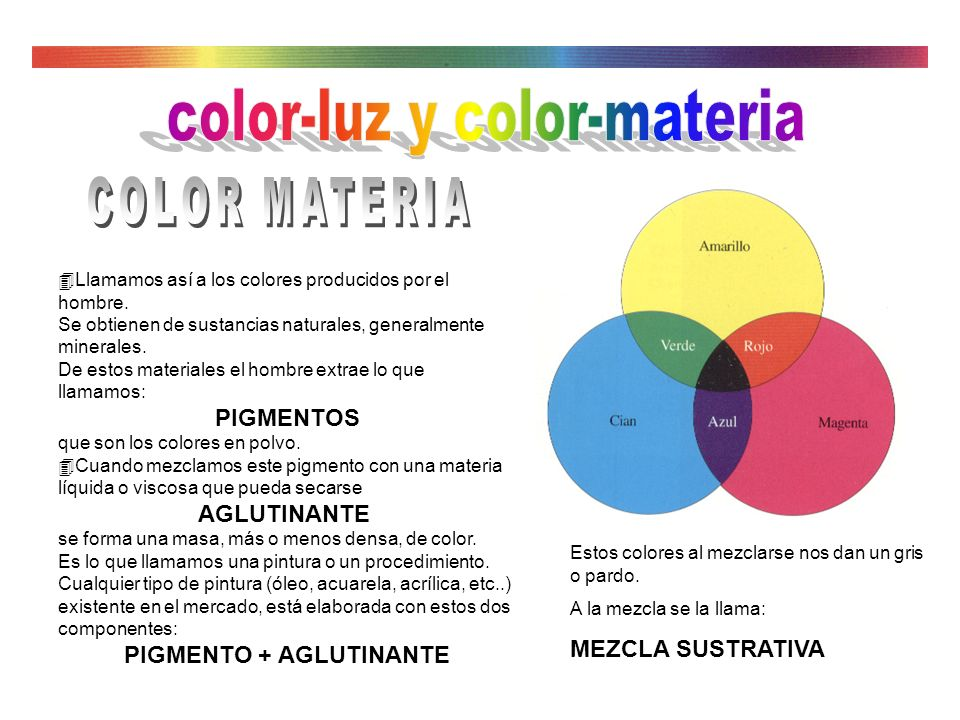color-luz y color-materia