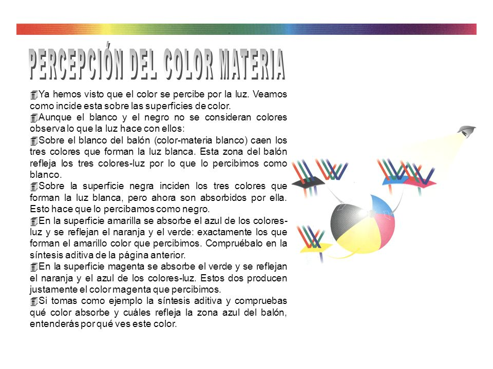 PERCEPCIÓN DEL COLOR MATERIA