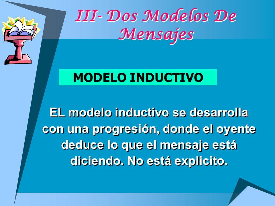 III- Dos Modelos De Mensajes