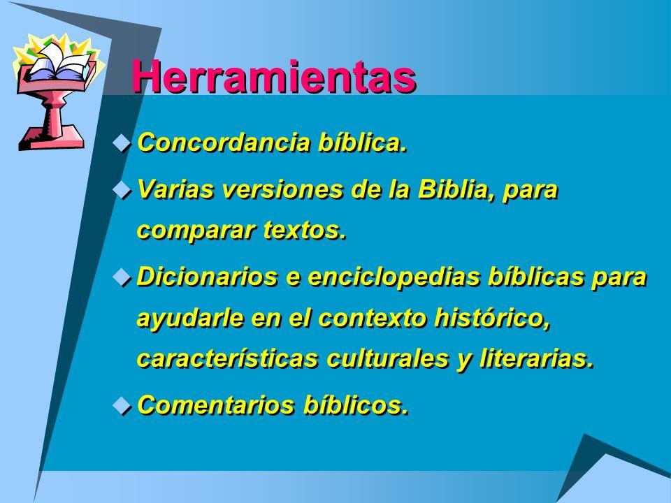 Herramientas Concordancia bíblica.