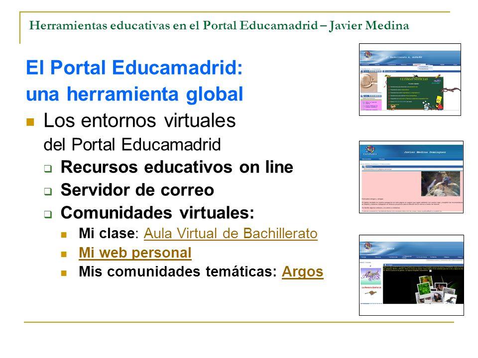 Herramientas educativas en el Portal Educamadrid – Javier Medina