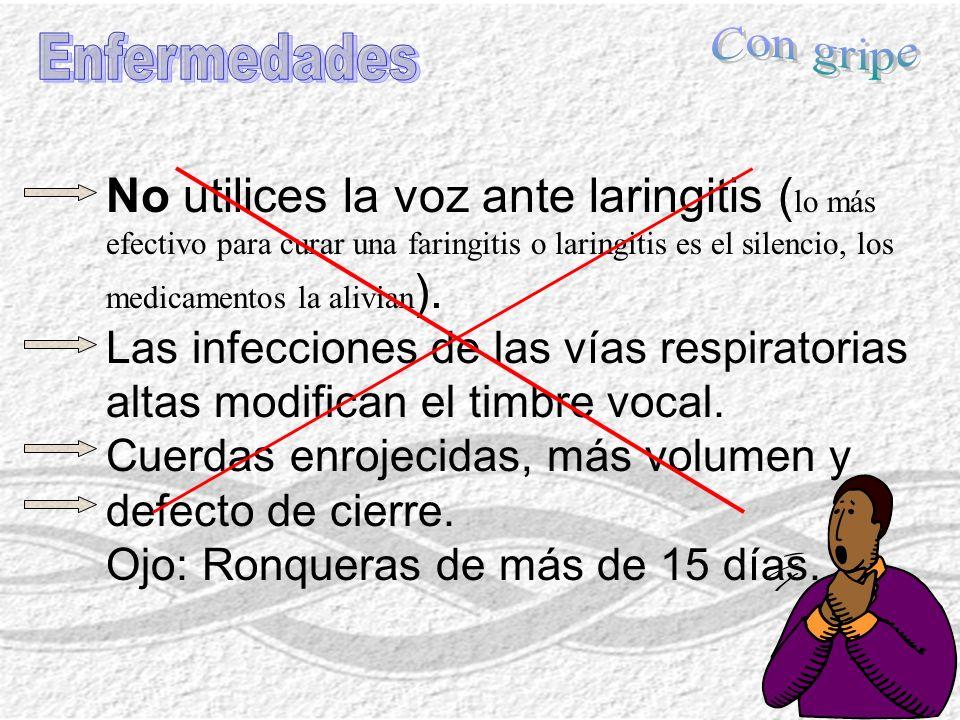 Con gripe Enfermedades