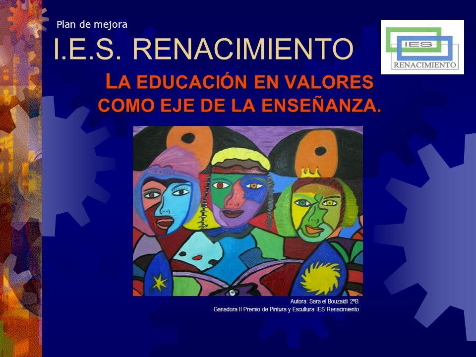 LA EDUCACIÓN EN VALORES COMO EJE DE LA ENSEÑANZA.