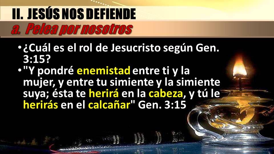 II. JESÚS NOS DEFIENDE a. Pelea por nosotros