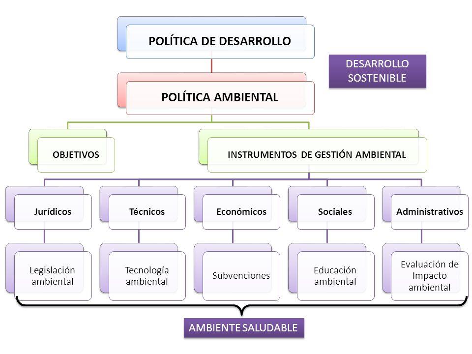 POLÍTICA DE DESARROLLO INSTRUMENTOS DE GESTIÓN AMBIENTAL