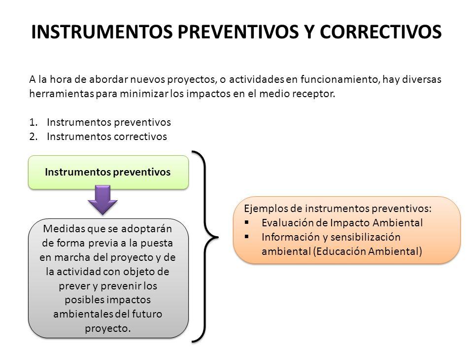 INSTRUMENTOS PREVENTIVOS Y CORRECTIVOS