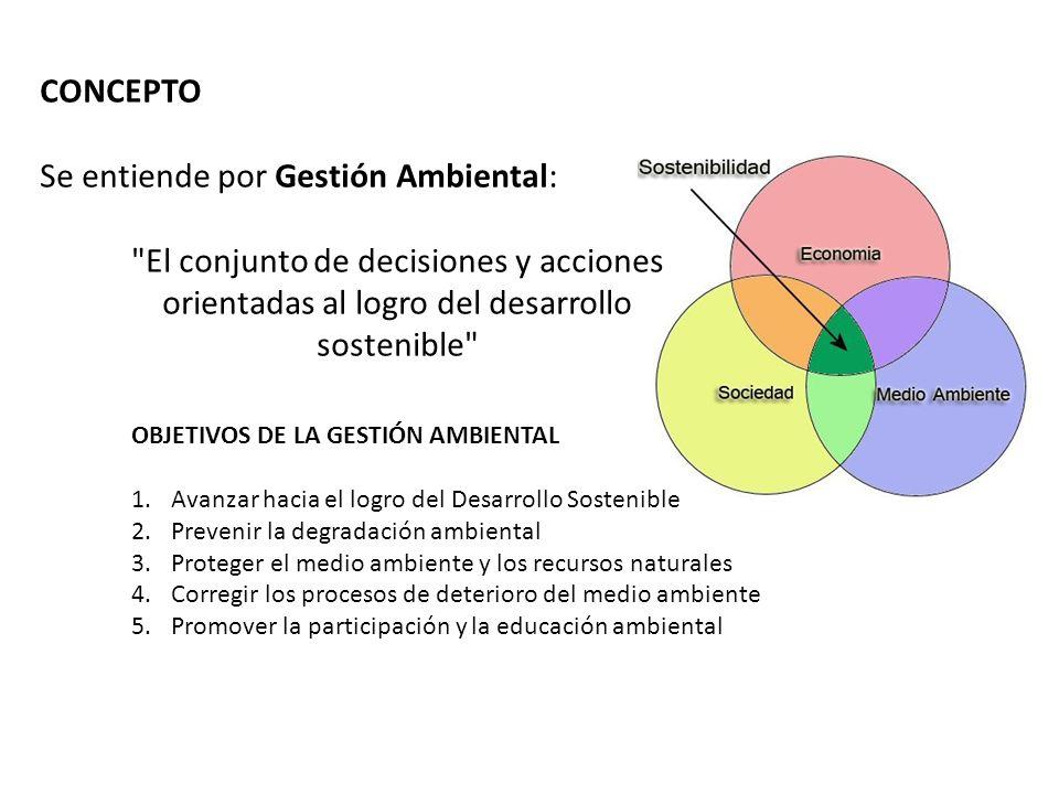 Se entiende por Gestión Ambiental: