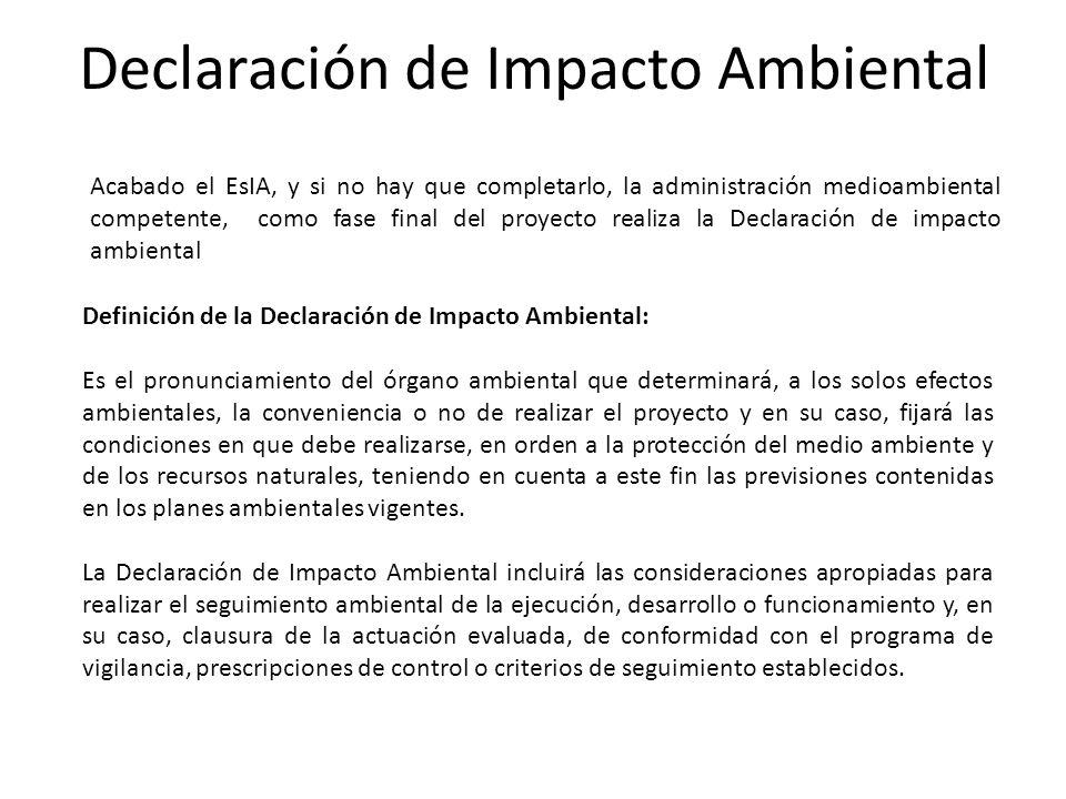 Declaración de Impacto Ambiental