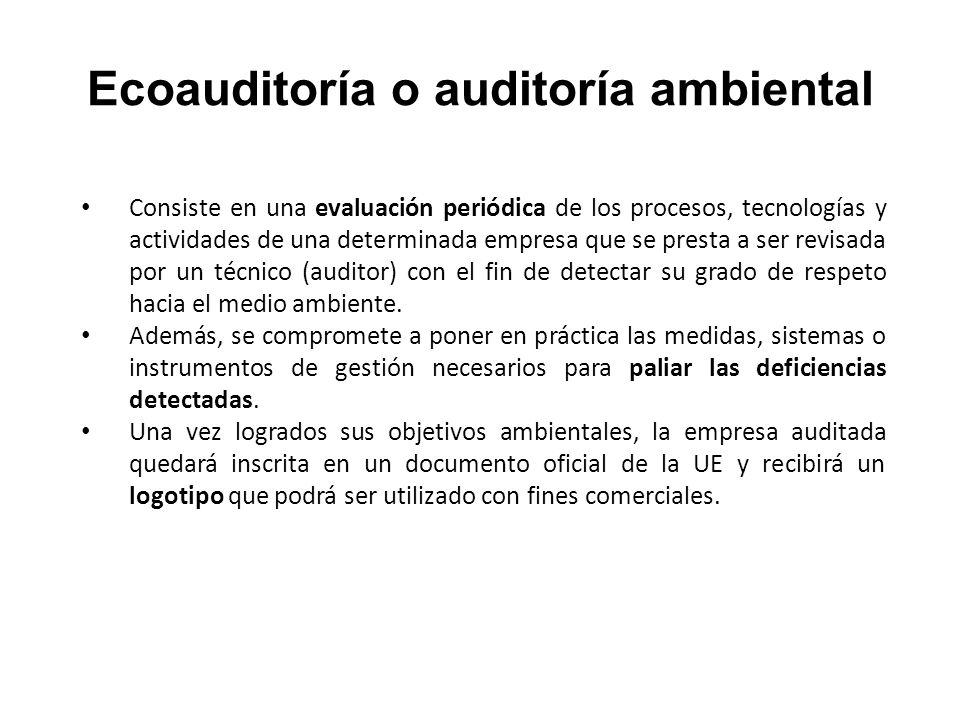 Ecoauditoría o auditoría ambiental
