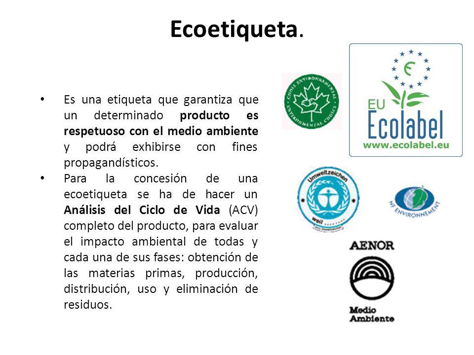 Ecoetiqueta.