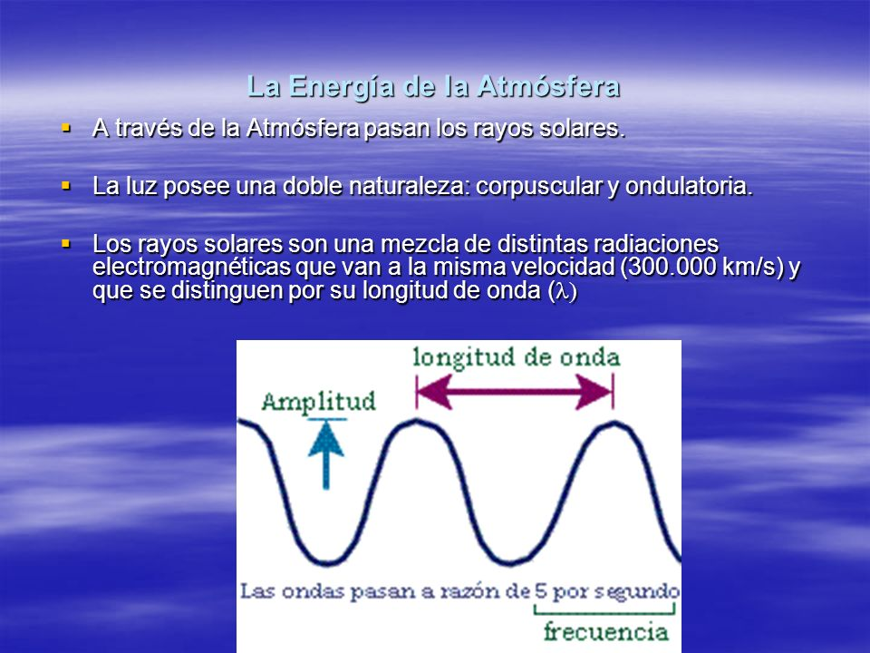 La Energía de la Atmósfera