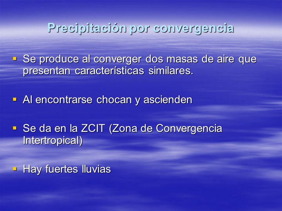 Precipitación por convergencia