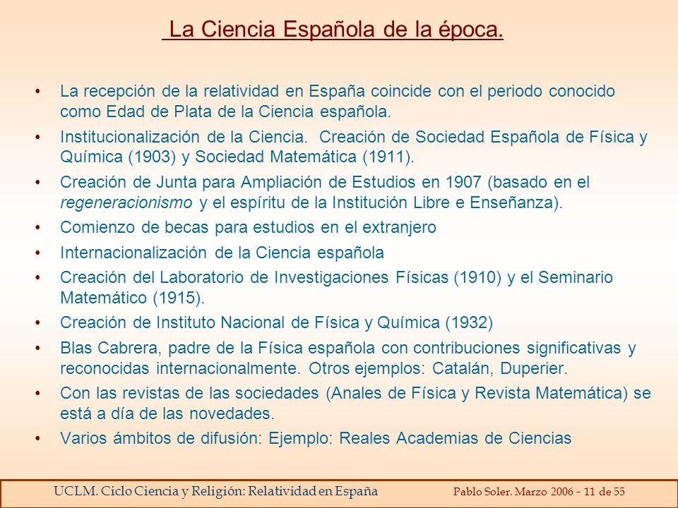 La Ciencia Española de la época.