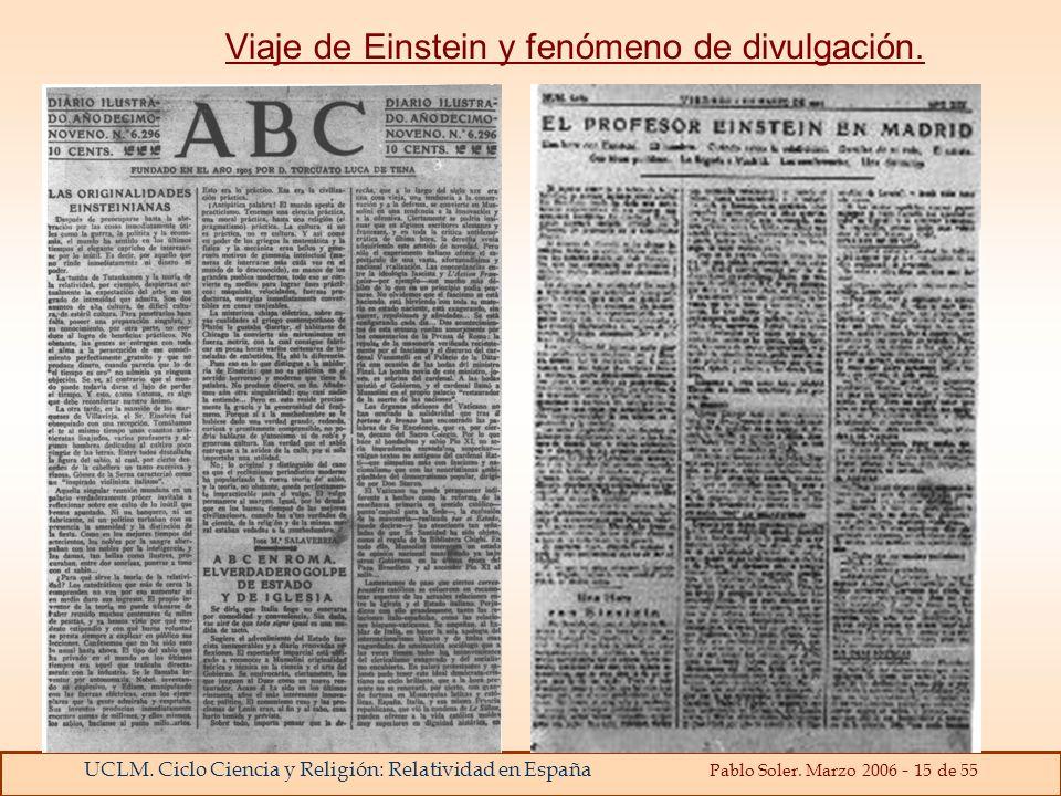 Viaje de Einstein y fenómeno de divulgación.