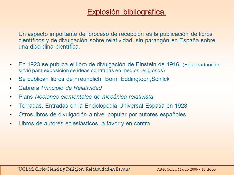 Explosión bibliográfica.