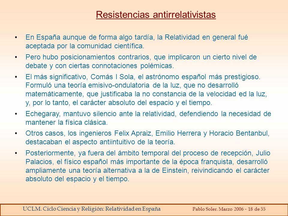 Resistencias antirrelativistas
