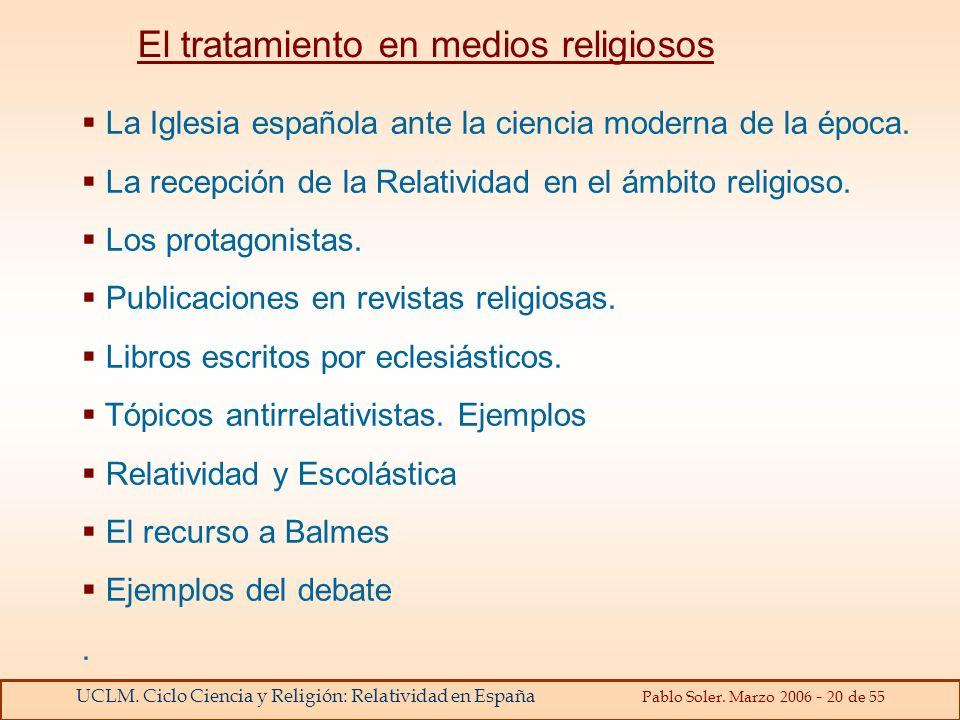 El tratamiento en medios religiosos