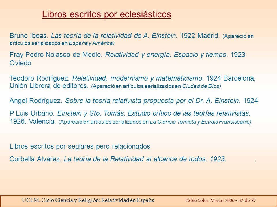 Libros escritos por eclesiásticos