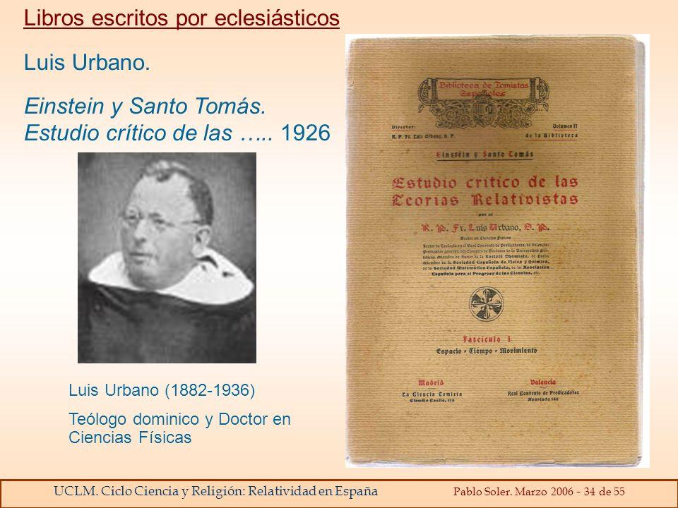 Libros escritos por eclesiásticos Luis Urbano.