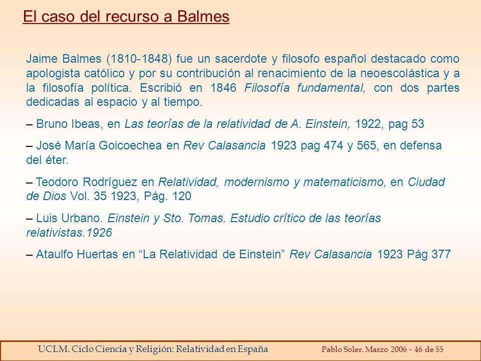 El caso del recurso a Balmes