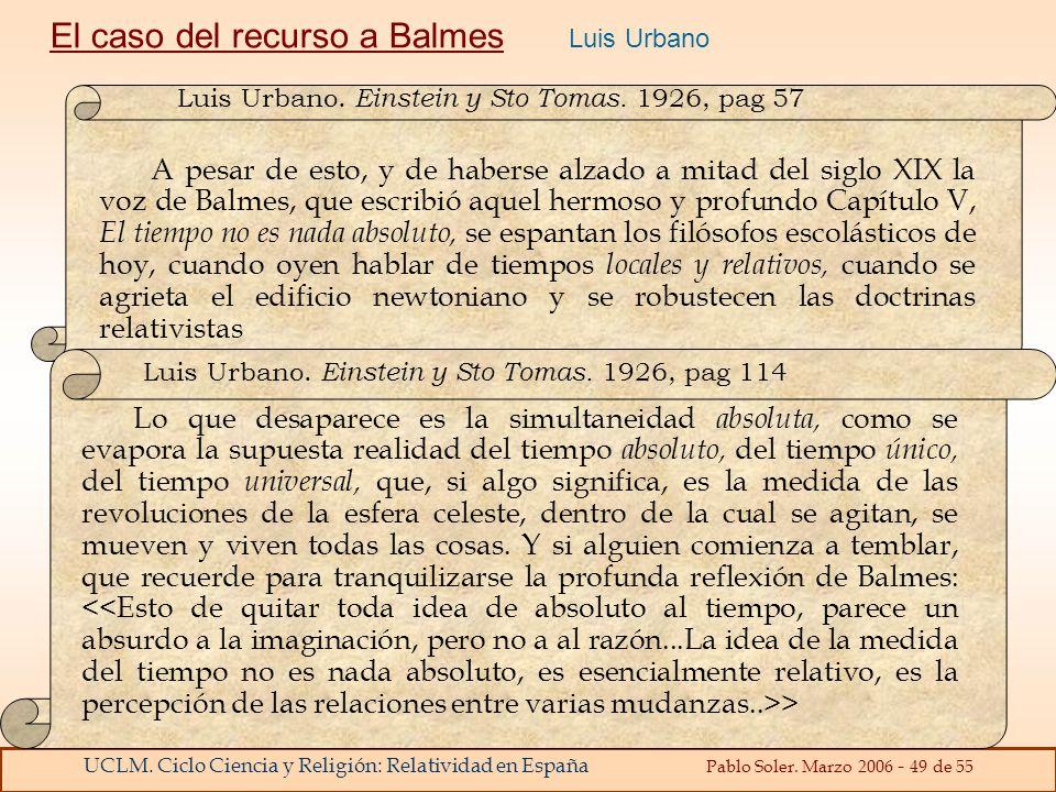El caso del recurso a Balmes Luis Urbano