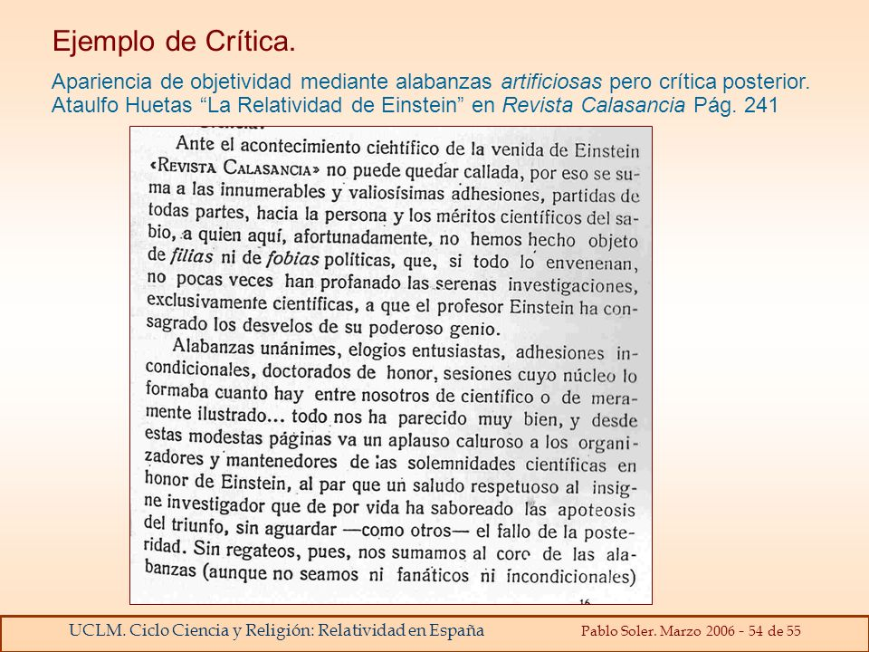 Ejemplo de Crítica.
