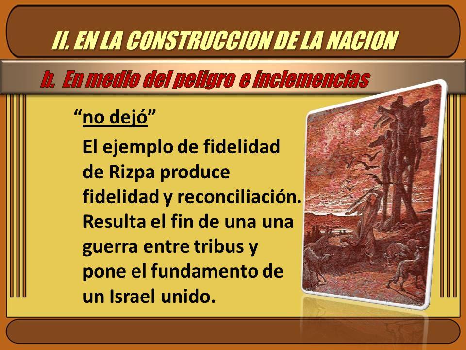 II. EN LA CONSTRUCCION DE LA NACION