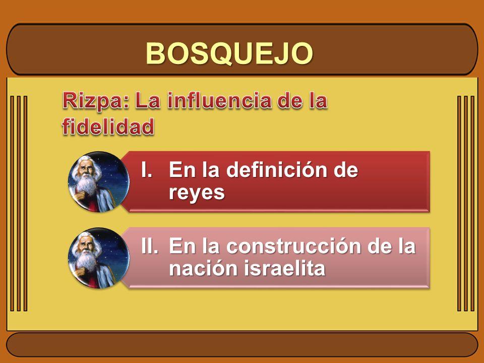 BOSQUEJO I. En la definición de reyes
