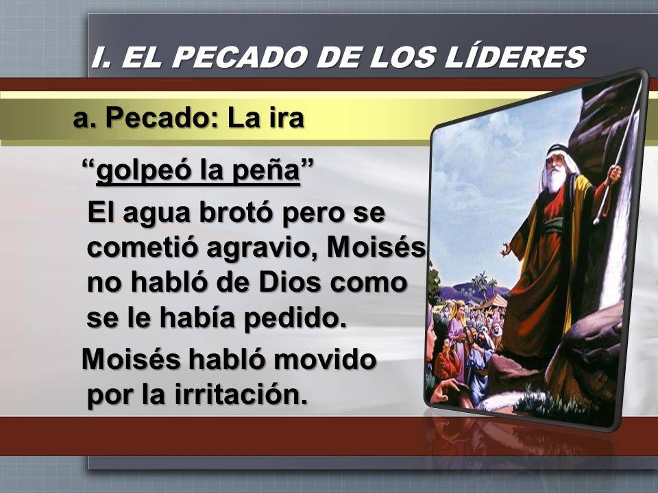 I. EL PECADO DE LOS LÍDERES