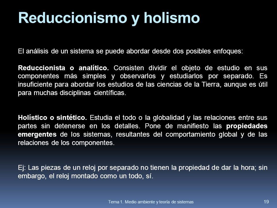 Reduccionismo y holismo